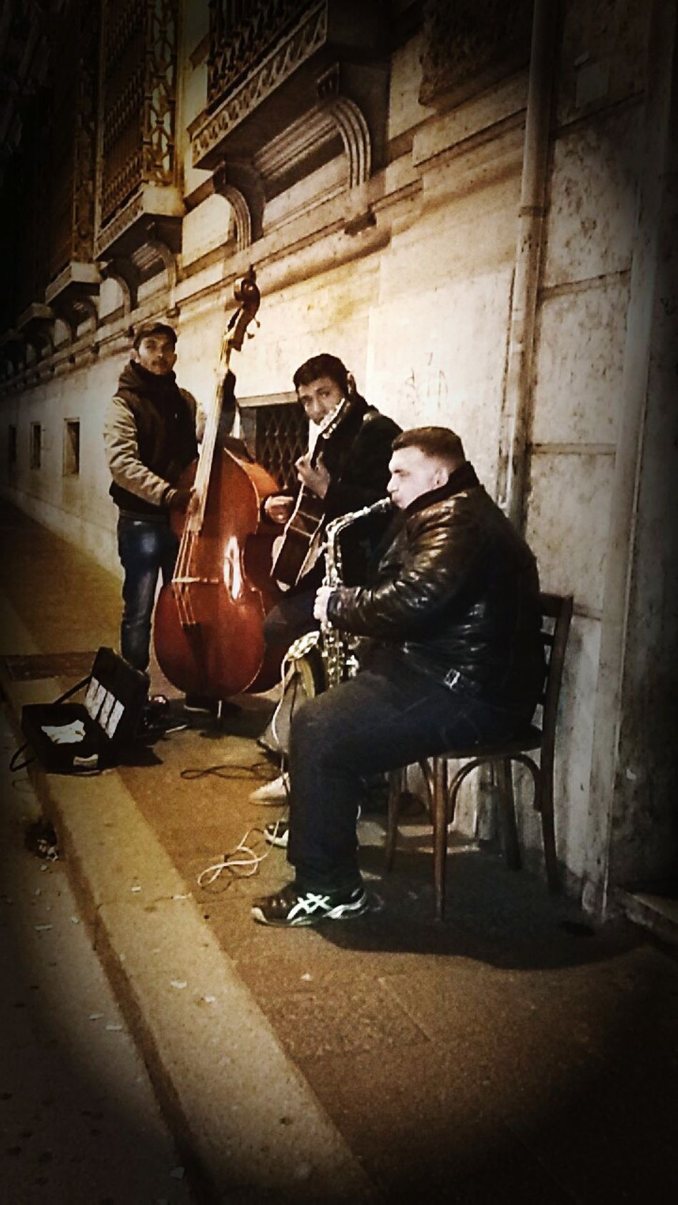 Music Jazz Blues Music Is In The Air Music On The Street Roma Rome Guitar Contrabbasso Contrabbasso Sax Contrabass Musicians