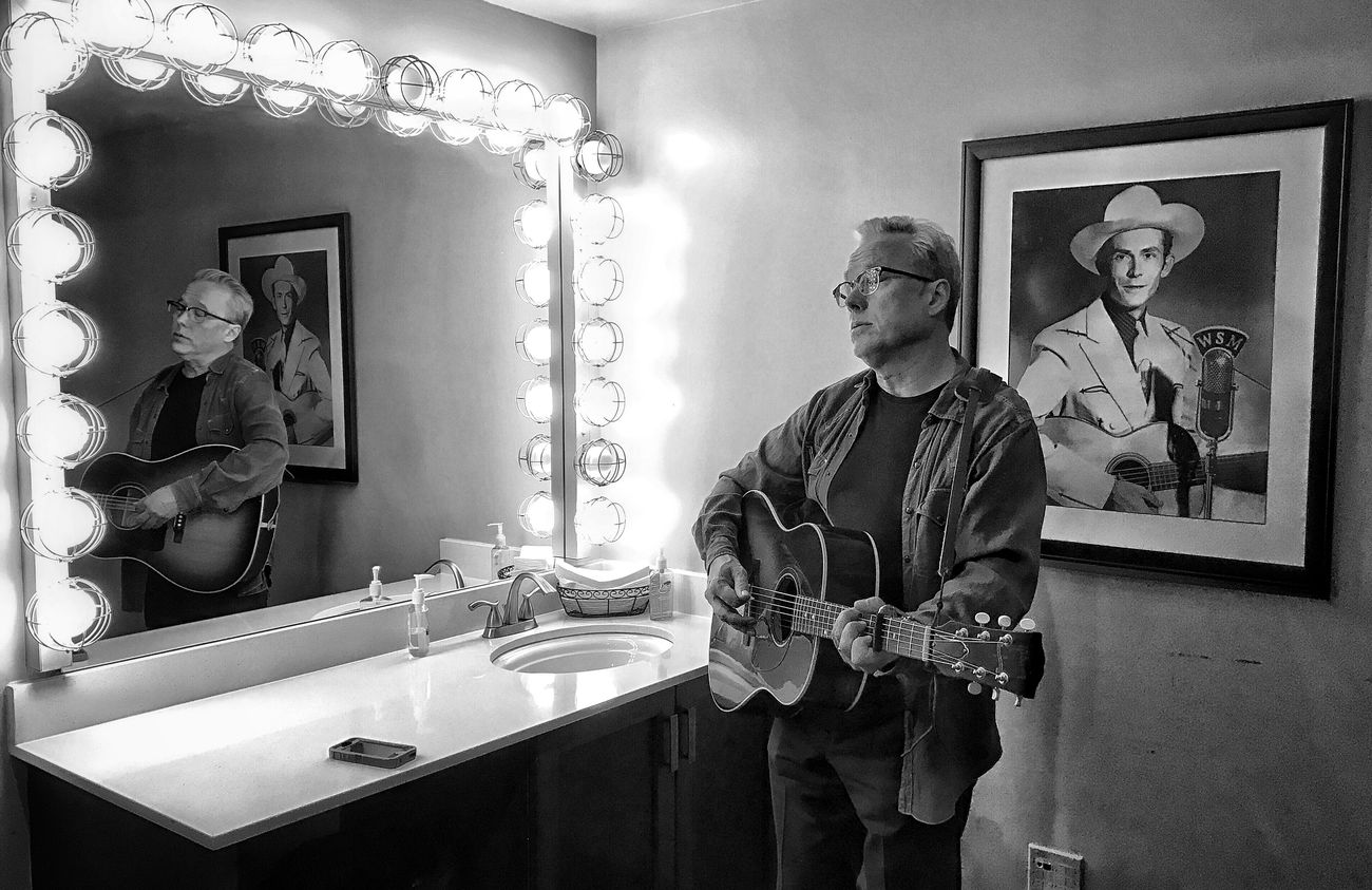 Radney Foster, warming up backstage at the Grand Ole Opry. Ryman Auditorium Opry Grand Ole Opry Radney Foster Mother Church Of Country Music Country Music Troubadour Music Musician Intheshadowofhank Musical Instrument Hallowed Ground