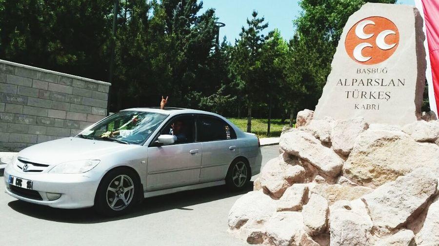 Basbug Turkes Kabir Ziyareti . Bozkurt Honda Civic