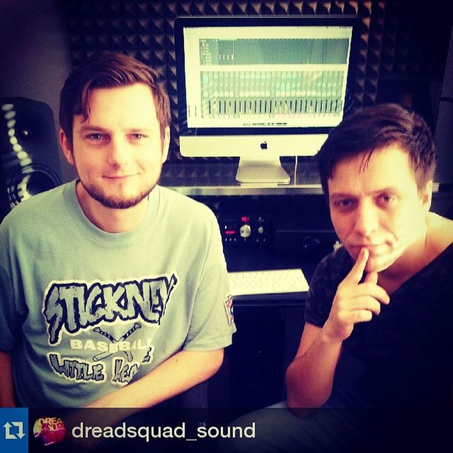 Repost from @dreadsquad_sound with @repostapp — With Adam Faz at Naumetic Studio. Dreadsquad_sound Adamfaz Studio Bass
