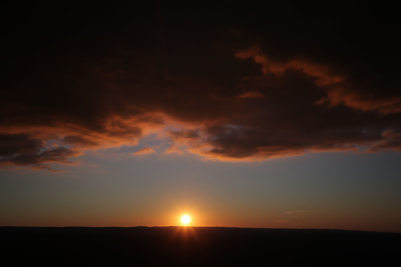 Beauty In Nature Cloud - Sky Dark Day Nature No People Outdoors Scenics Silhouette Sky Sunset