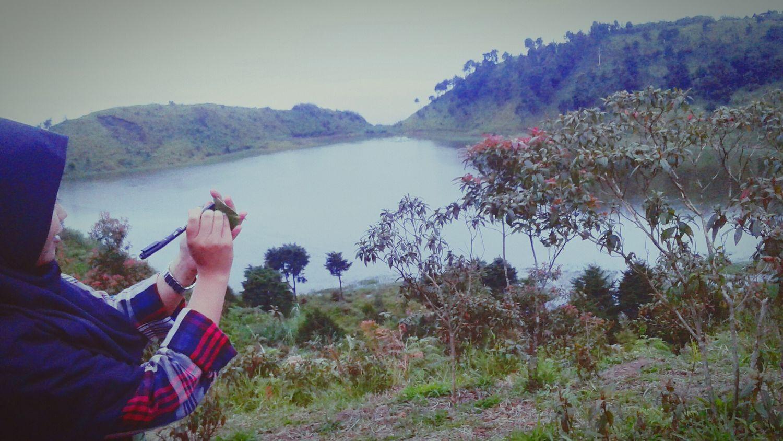 Lake Nature Water One Person One Woman Only Women Ayodolan Dieng Indonesia Wonosobohitz BeautyfullIndonesia Treveling Camping