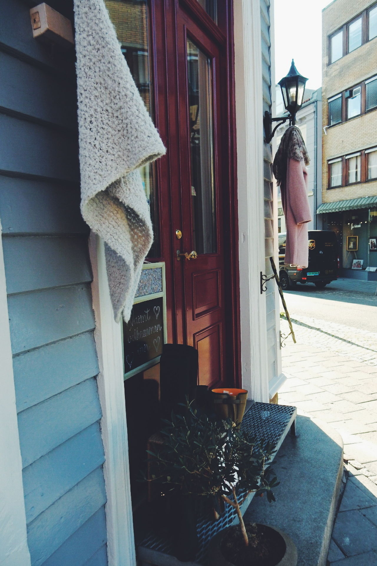 The Shop Around The Corner Shop Clothing Store Corner Cloths Fashion Norway Shopping Time Shopping Street Halden Norwegian Summer Building Exterior City Shop Window