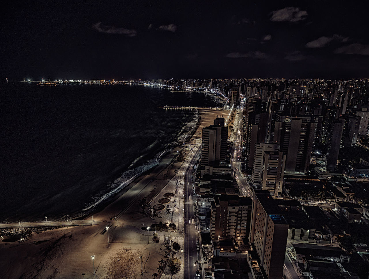 Up Fortaleza/Ceará - Brazil- Night City by ©NenoImagens Aereal View Darkness And Light Drone  Dronephotography Fortaleza Neno Night Lights Nightcity Up View