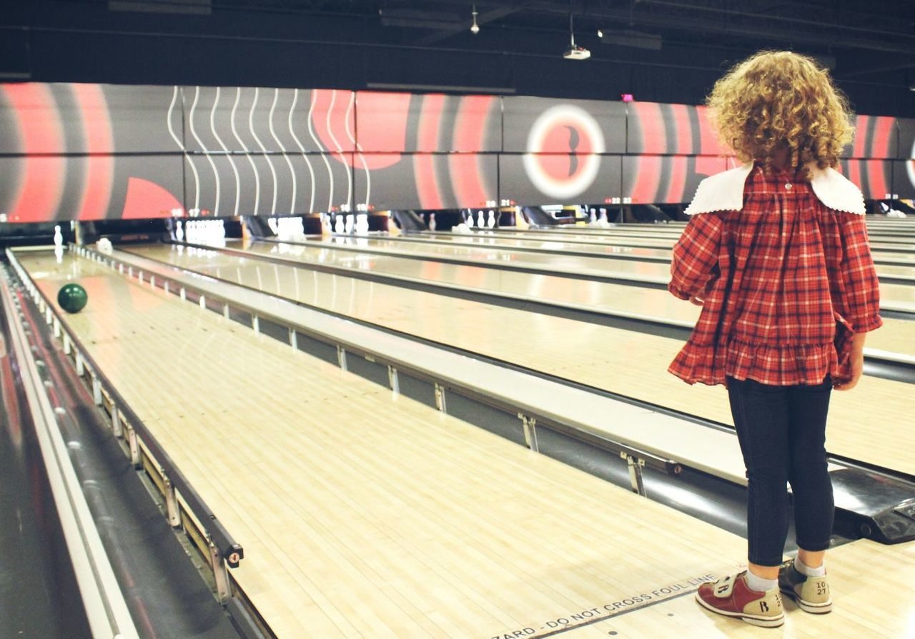 Bowling Alley Bowling Bowling Pins One Person Railing Standing Indoors