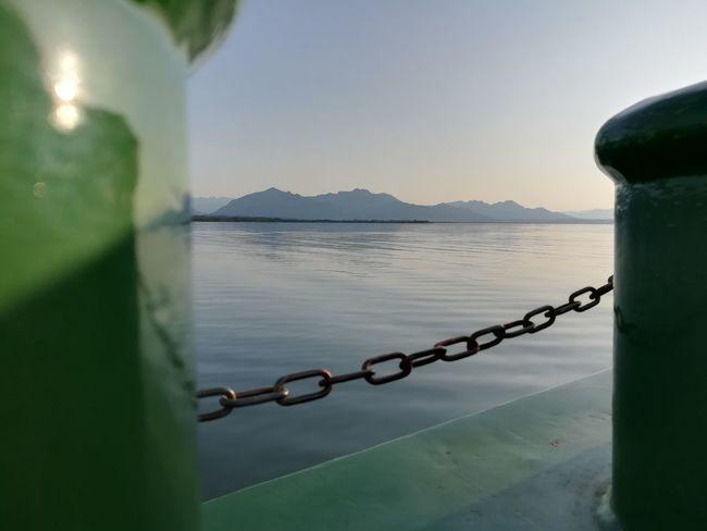 Water Metal Chain Outdoors Lake Mountains Ship