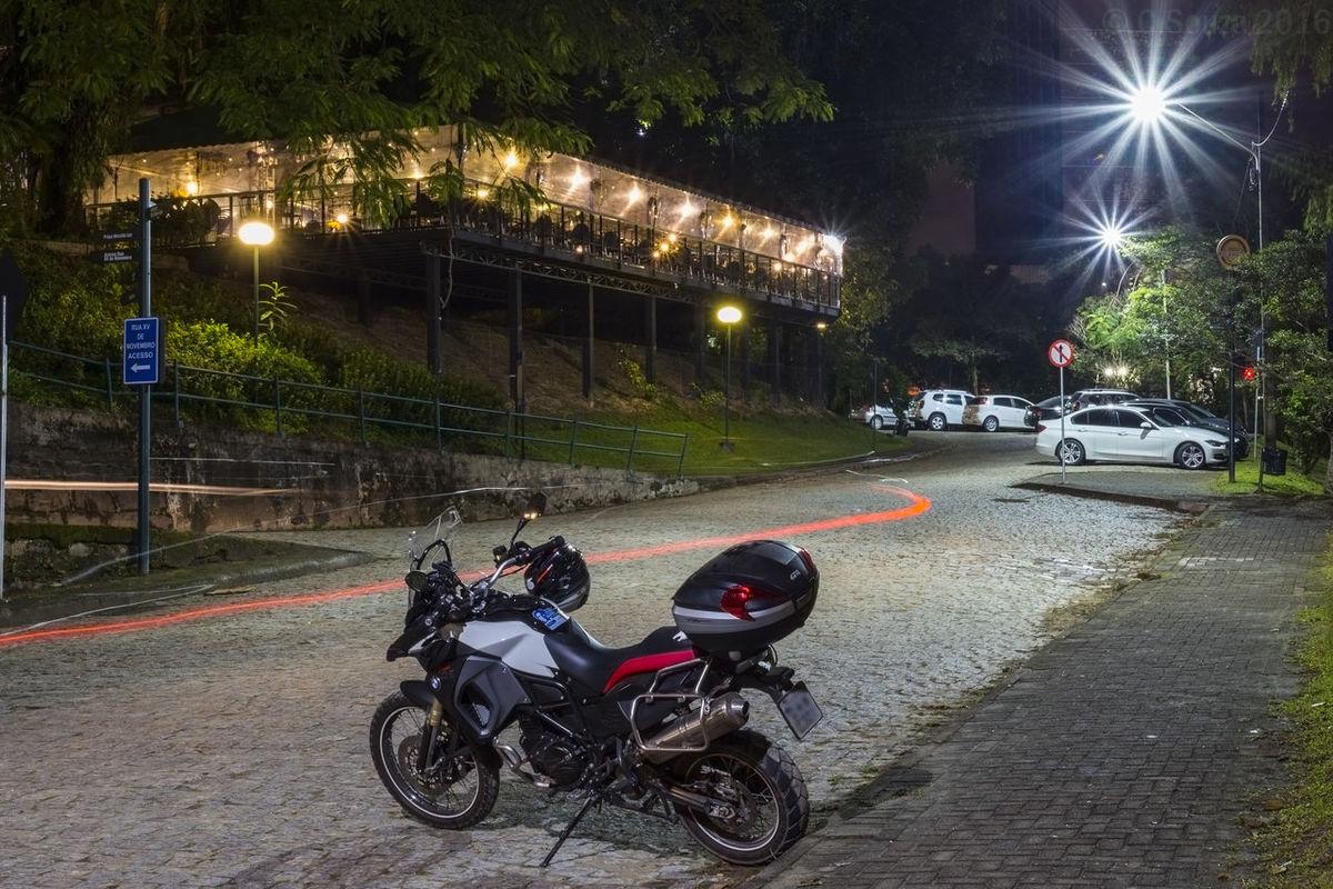 Blumenau, SC, Brazil BMW GS 800 Adventuri City Life Expresso  Light Trail Mode Of Transport Motion Moto Bmw Motocicleta Motocicleta Bmw Night Parking Road Road Marking Street Light Transportation