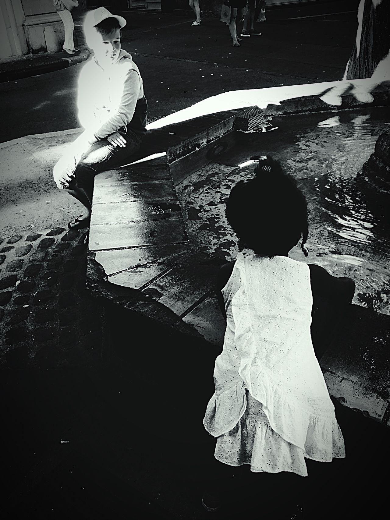 Aix En Provence Vintage Photo Enfance Enfant Vacances Eau Fontaine