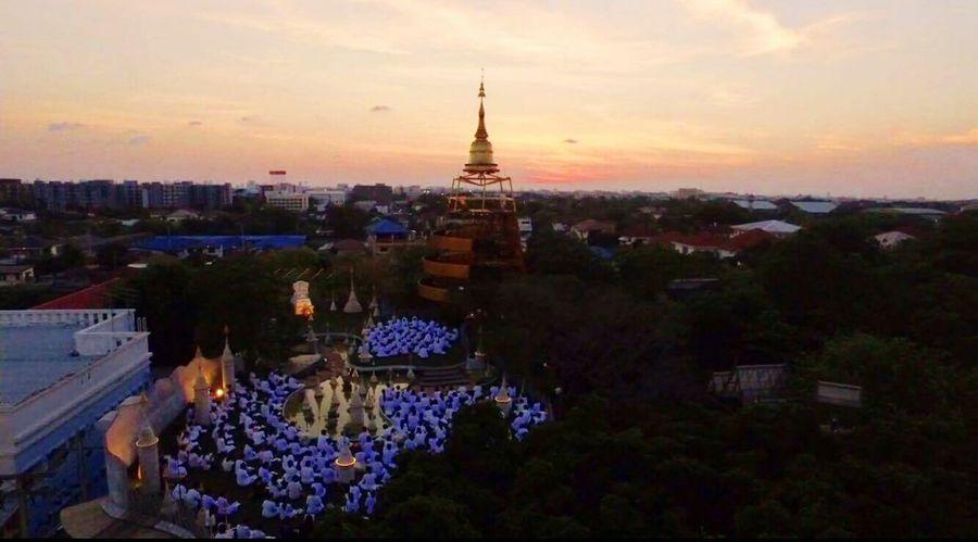 Buddha Sunset Architecture Cityscape Outdoors No People Colors Beauty Tara Green Tara