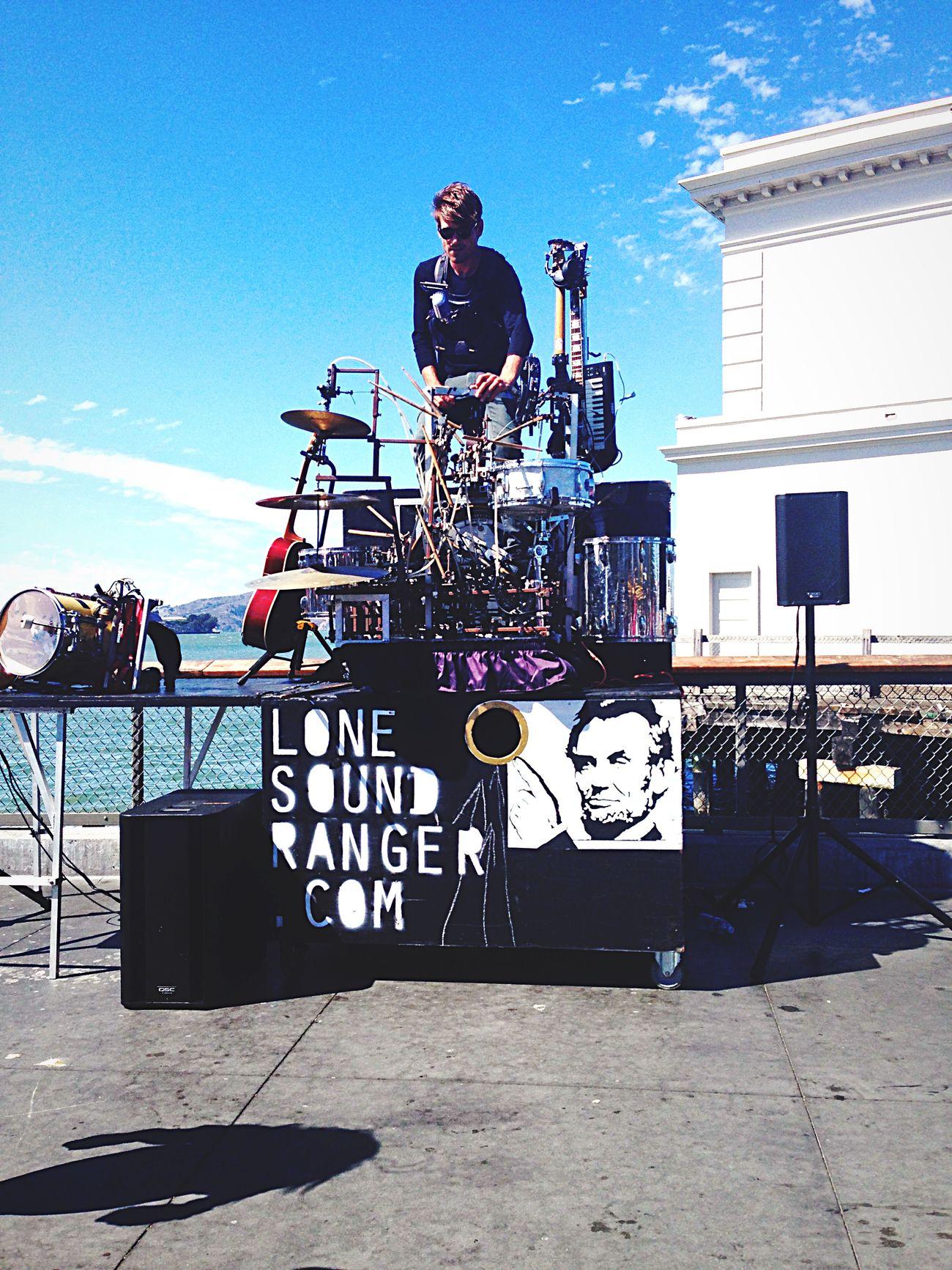 A Street Musician🎸 San Francisco Streetperformer Fishermanswharf
