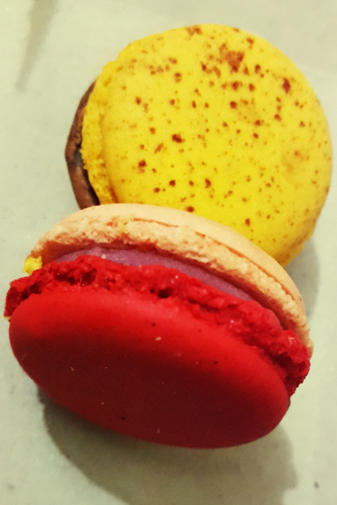 Life is short, eat desserts fir St😋 Macroons Macroonday Yellow Red No People Close-up Indoors  Food Ready-to-eat Day Desserts! Deserts Around The World Dessertoftheday Dessert Time! Dessert Porn Dessertstagram Sweet Food Sweetthooth Love It Red Yellow