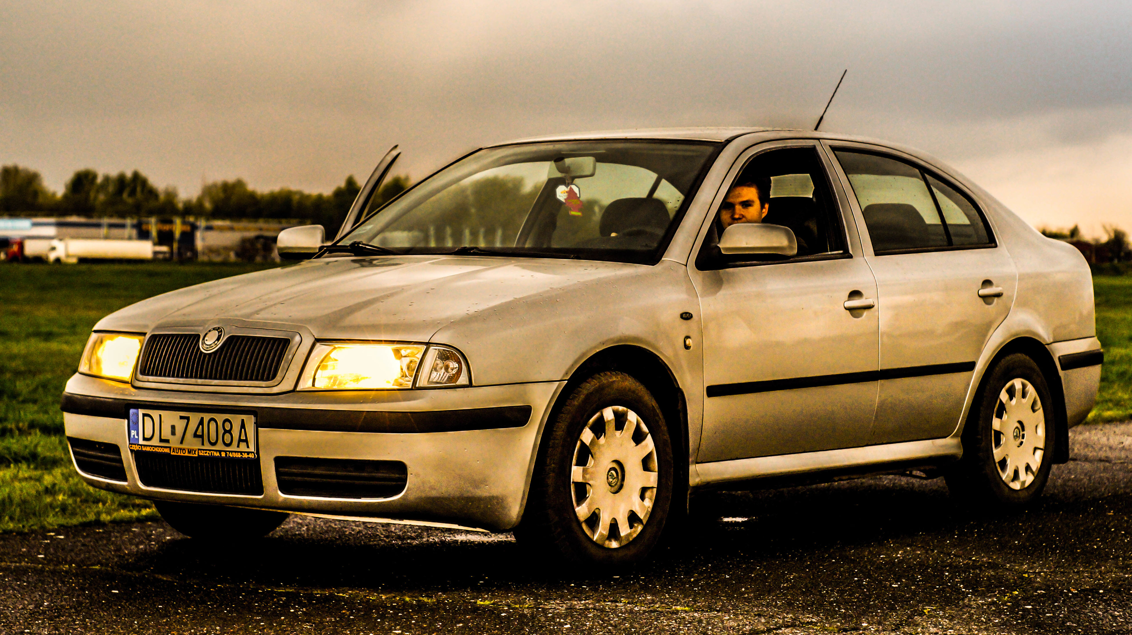 car, transportation, land vehicle, mode of transport, sky, no people, old-fashioned, outdoors, tree, nature, day, collector's car