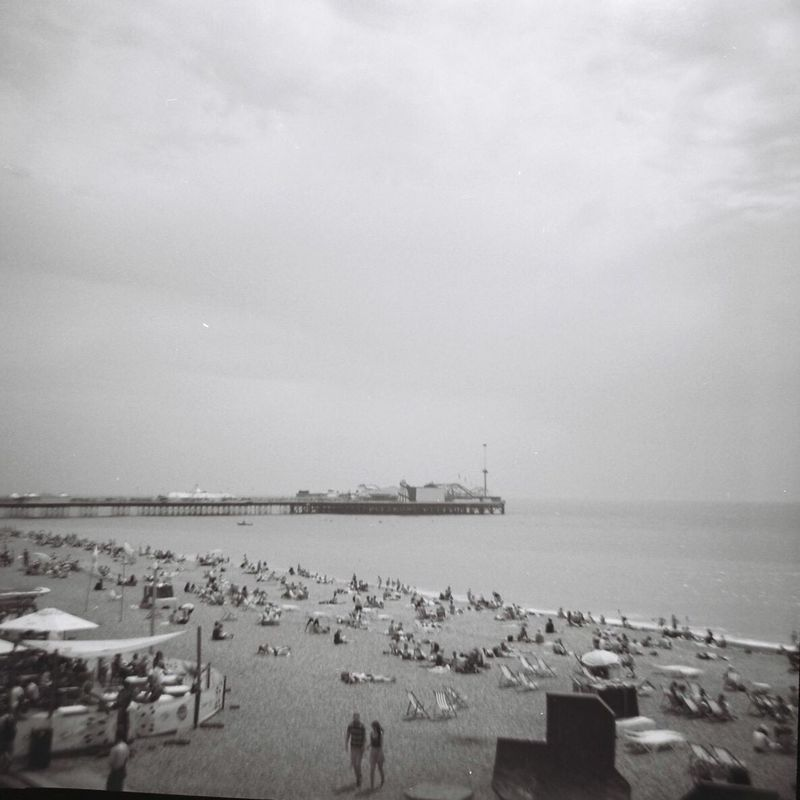 Sea Water Horizon Over Water Sky Outdoors Nature Beach Brighton Brighton Pier Brighton Beach Brighton Uk 35mm 35mm Film Lomography Lomo
