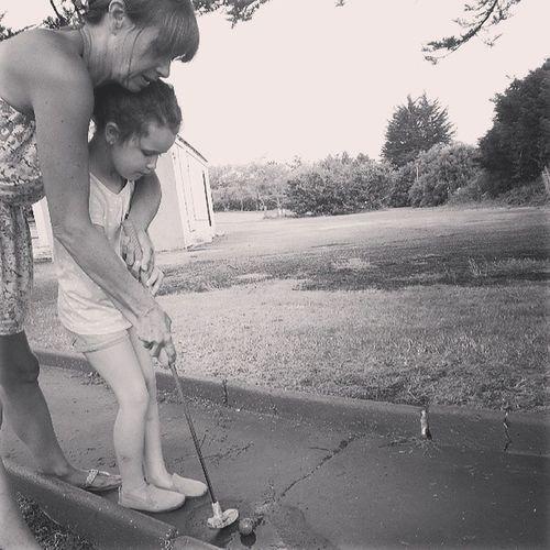My Mum ♥  My Babygirl <3 Family❤ Playing Golf