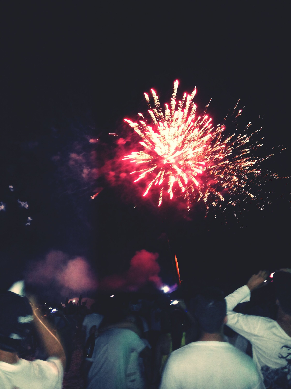 New Year's Eve Fireworks Happynewyear Beach 2015