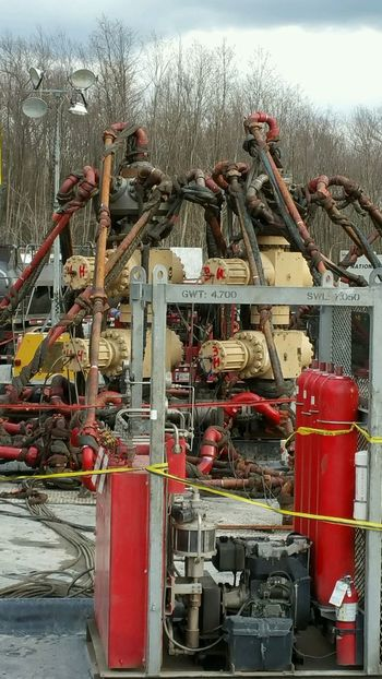 Men At Work  Fracking Titans Of Industry Well Head Universal Fracking Industry Well Pad