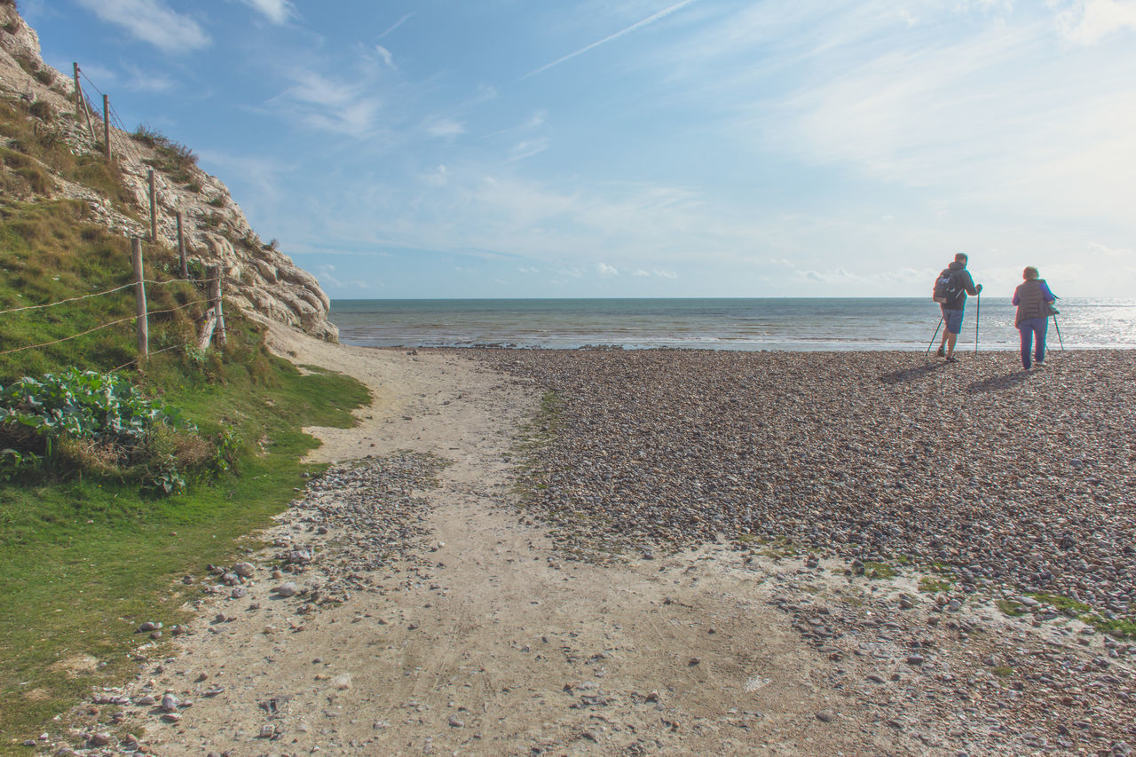 Beachy Head - East Sussex Adult Beach Beachy Head Beauty In Nature Day East Sussex Horizon Over Water Nature Outdoors People Sea Sky Togetherness Two People Water Women