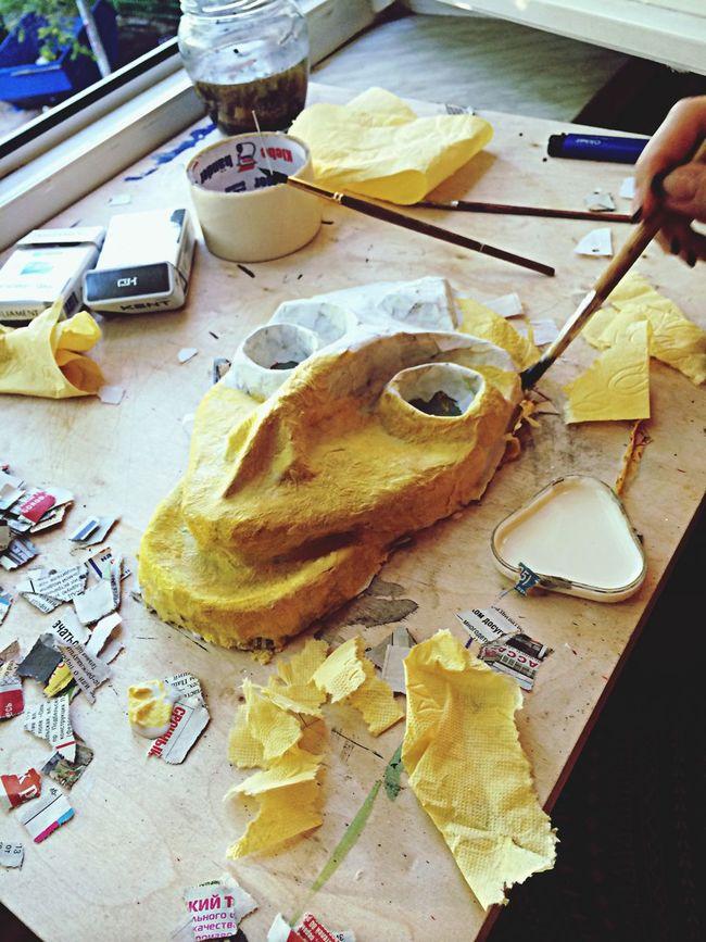Paper Mache Mask Hand Made Art