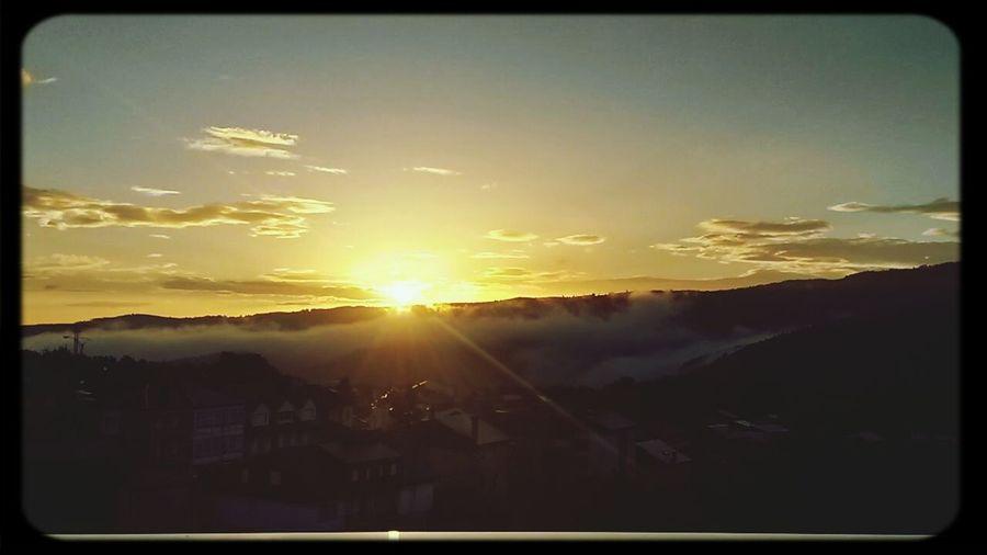 Sunrise Galicia Mountains Nature