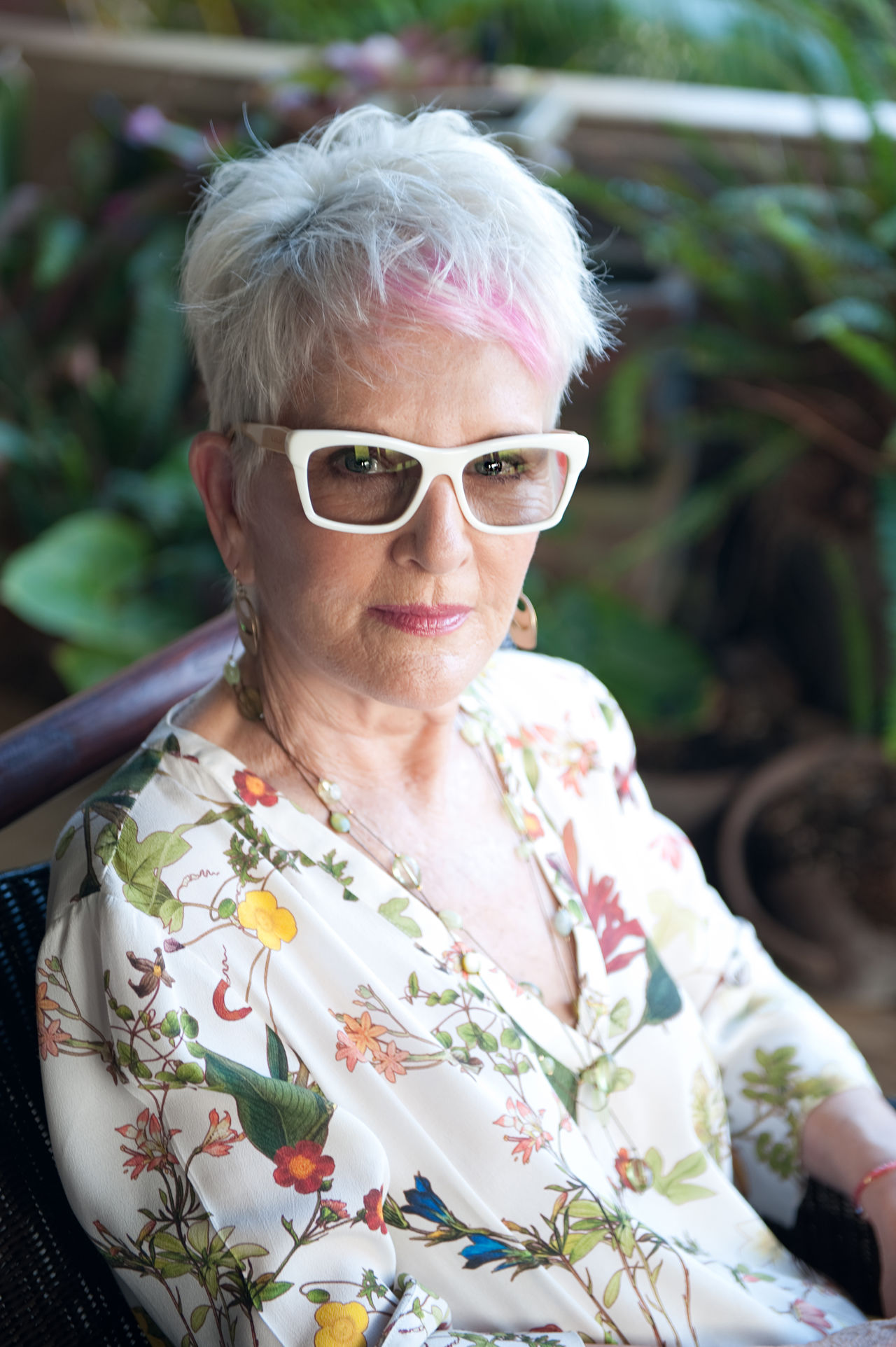 Close-up Front View Looking At Camera Person Pink Hair Pleasant Portrait Portrait Of A Woman Real People Senior Woman Sunglasses Fresh on Market The Portraitist - 2016 EyeEm Awards The OO Mission