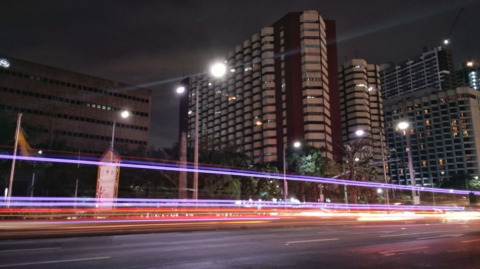 Speed Light Trail Outdoors Long Exposure