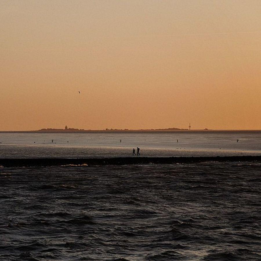 Good night Neuwerk Watt Dusk D ämmerung northsea nordsee island insel silhouette evening eveninglight abend abendlicht d90 dxofilmpack