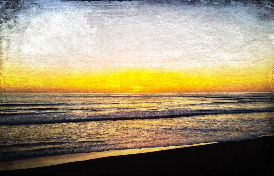 Finding beauty at the end of every day... Sunset Yellow Horizon Over Water The Great Outdoors With Adobe San Diego 43 Golden Moments Sunset Silhouettes Sunsetporn Tranquil Scene Shootermag