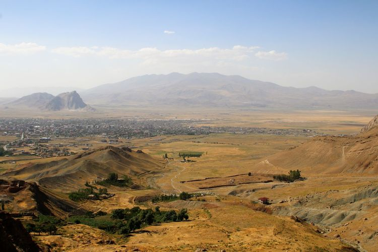 Turkey Dogubayazit Arid Climate High Angle View Landscape Mountain Mountain Range No People Sky Tranquil Scene
