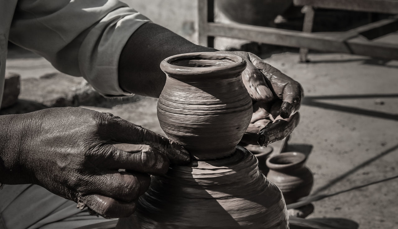 Pottery Pottery Art Potter's Wheel Craft Earthen Pot Human Hand Occupation Close-up Motion Working Hands Hardwork Skills  Traditional Indian Craft Canon700D Canonphotography Eyeemphotography EyeEm Best Shots The Week On EyeEm