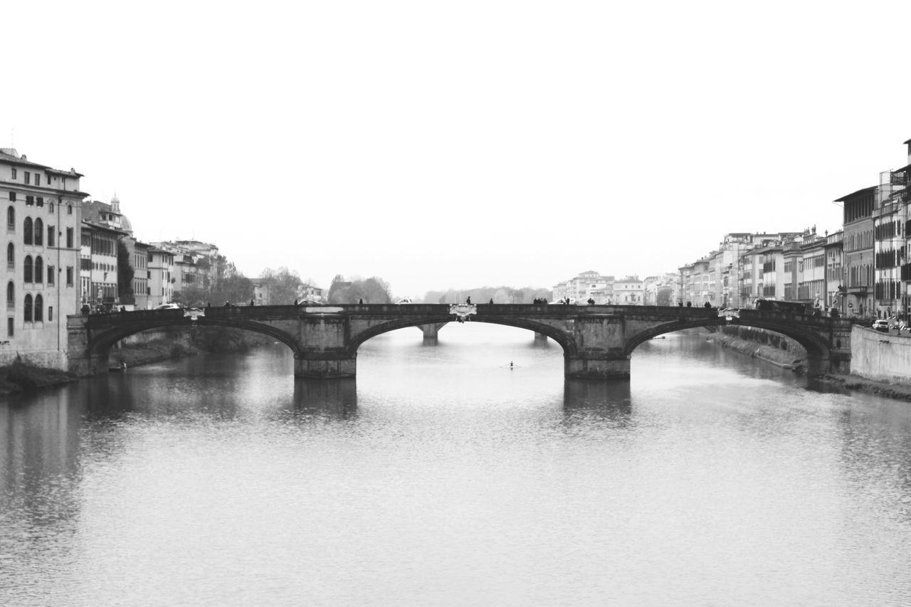 Old bridge Architecture Black And White Bridge Florence Italy Landscape Nature Old River