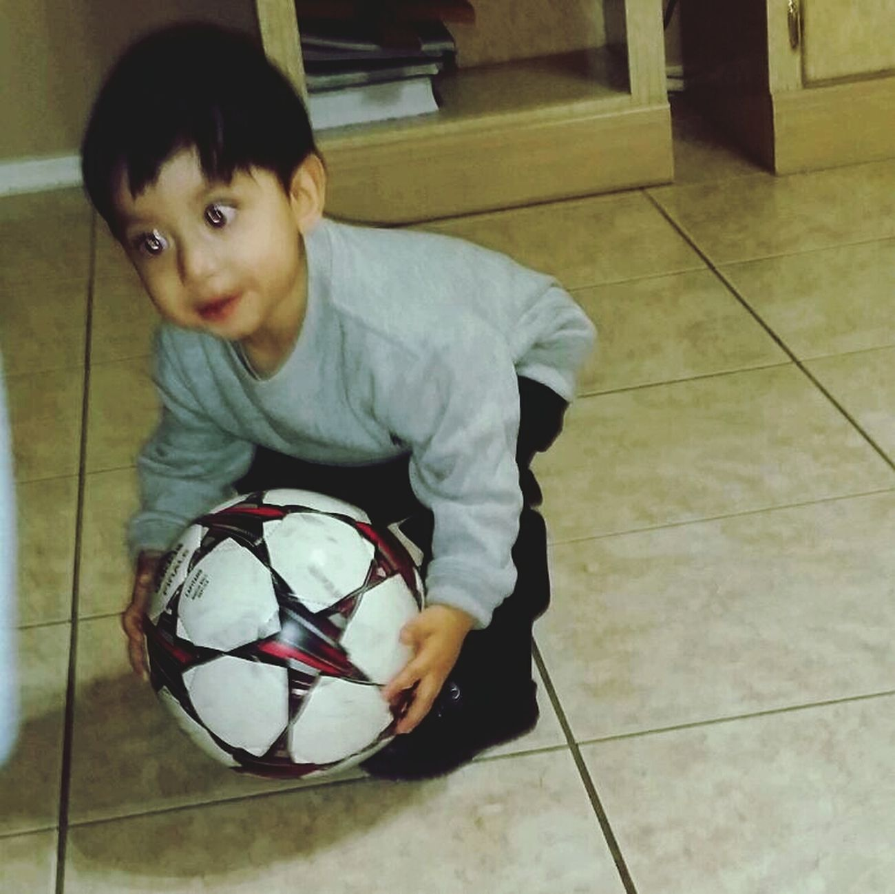 Nephew playing soccer♡ Walking Around
