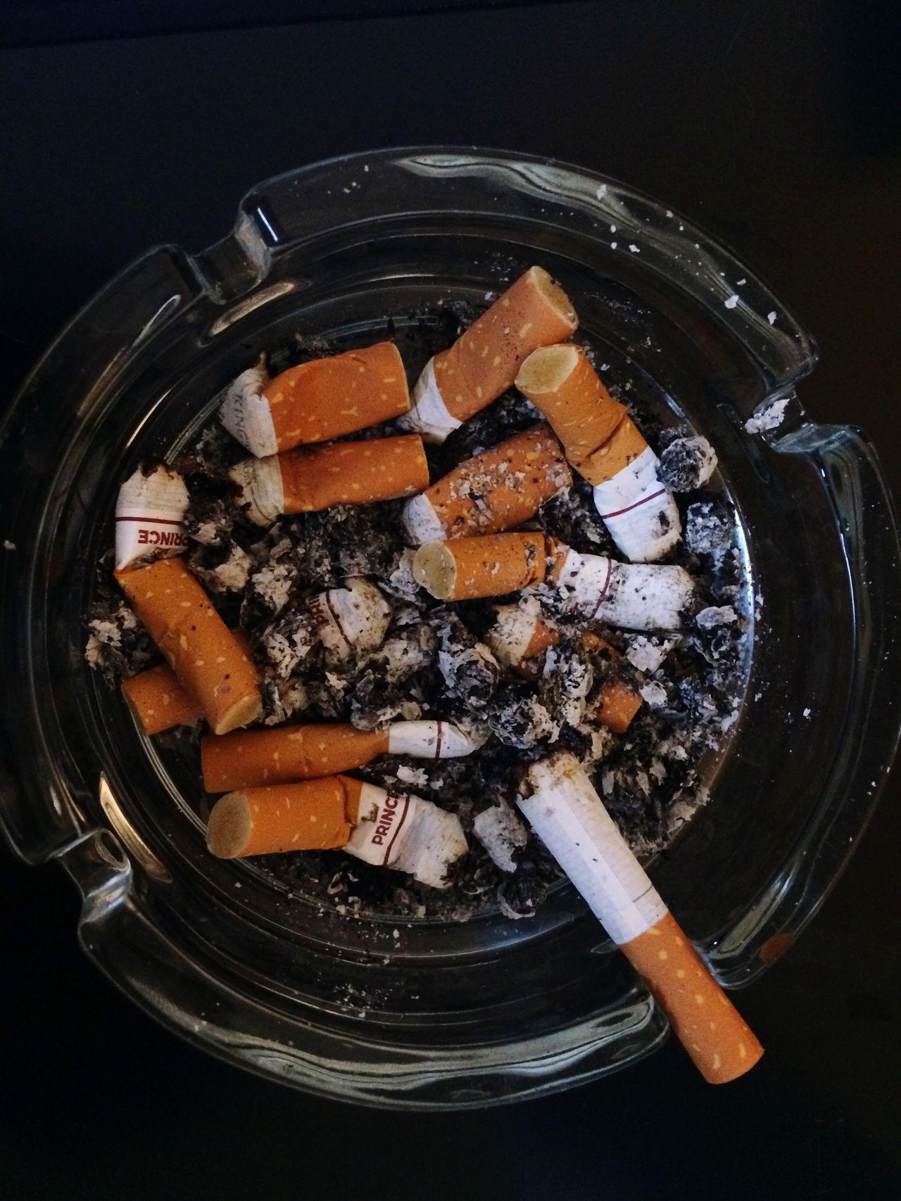 No People Close-up Indoors  Day Smoking Ashtray  Cigaretts