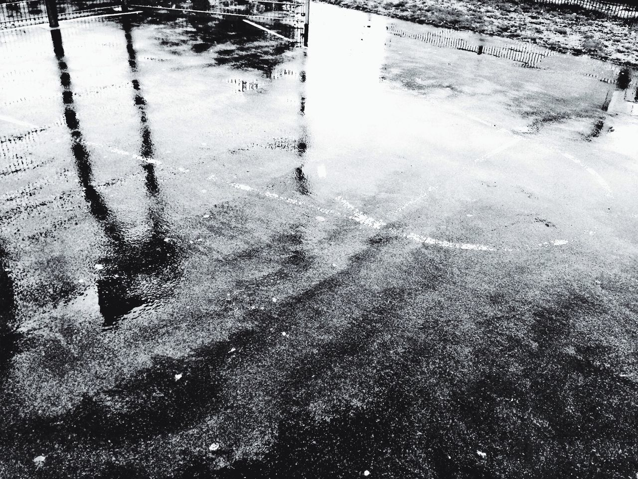 Mp-mission: Your District View Rain Reflection Bw_collection Puddleography