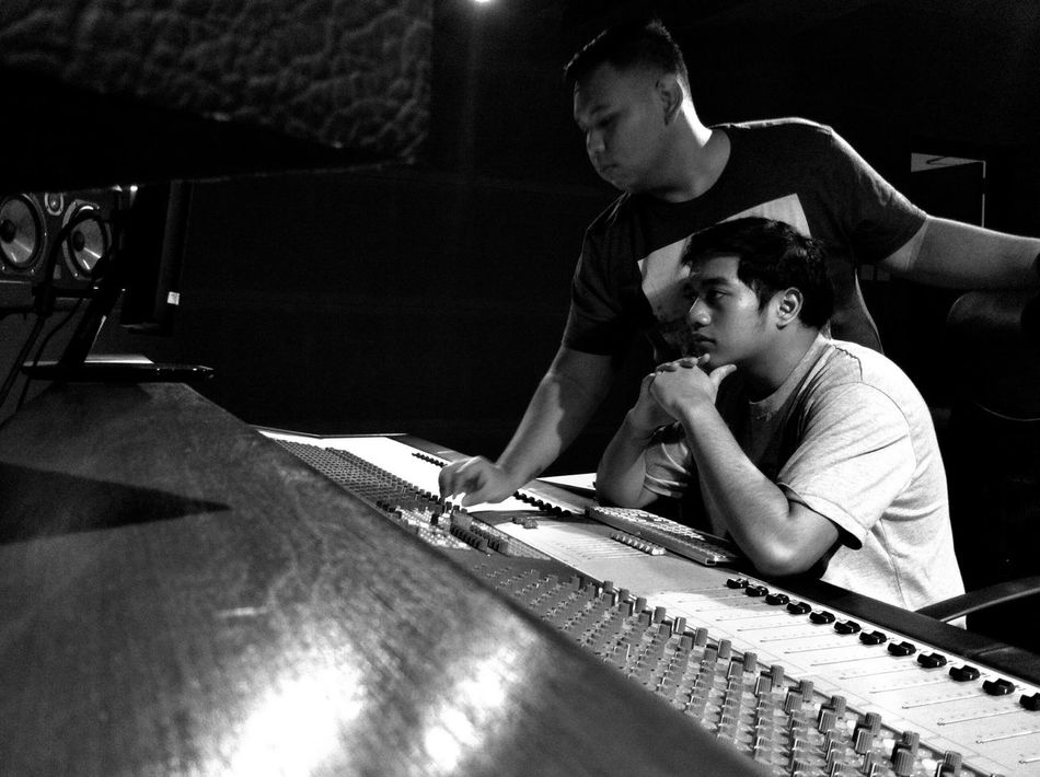 Audio Engineers Person Audio Engineer Music Producer My Favorite Place Monochrome Photography