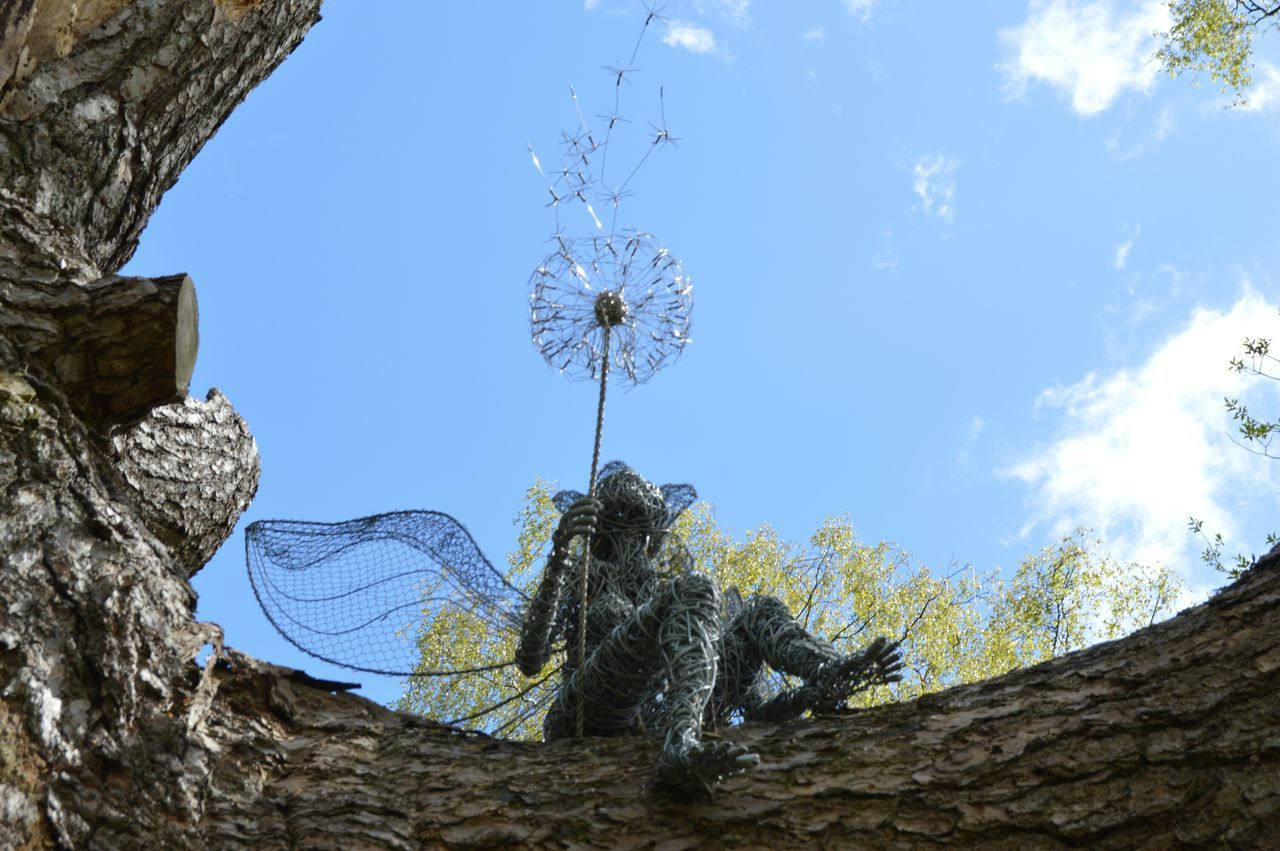 Blue Sky Tree Fairy Fairy Sculpture Sculpture Dandelion Dreams Mythical Fantasy