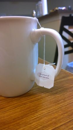 Chilling Cup Keep Calm Message Moments No People Proud Relax Table Tea