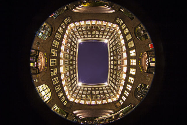 Architecture Built Structure Chile Haus Circle Circular Geometric Shape Illuminated Innenhof , Low Angle View No People Patio Skylight Welrkulturerbe Wide-angle Wide-angle Lens World Heritage