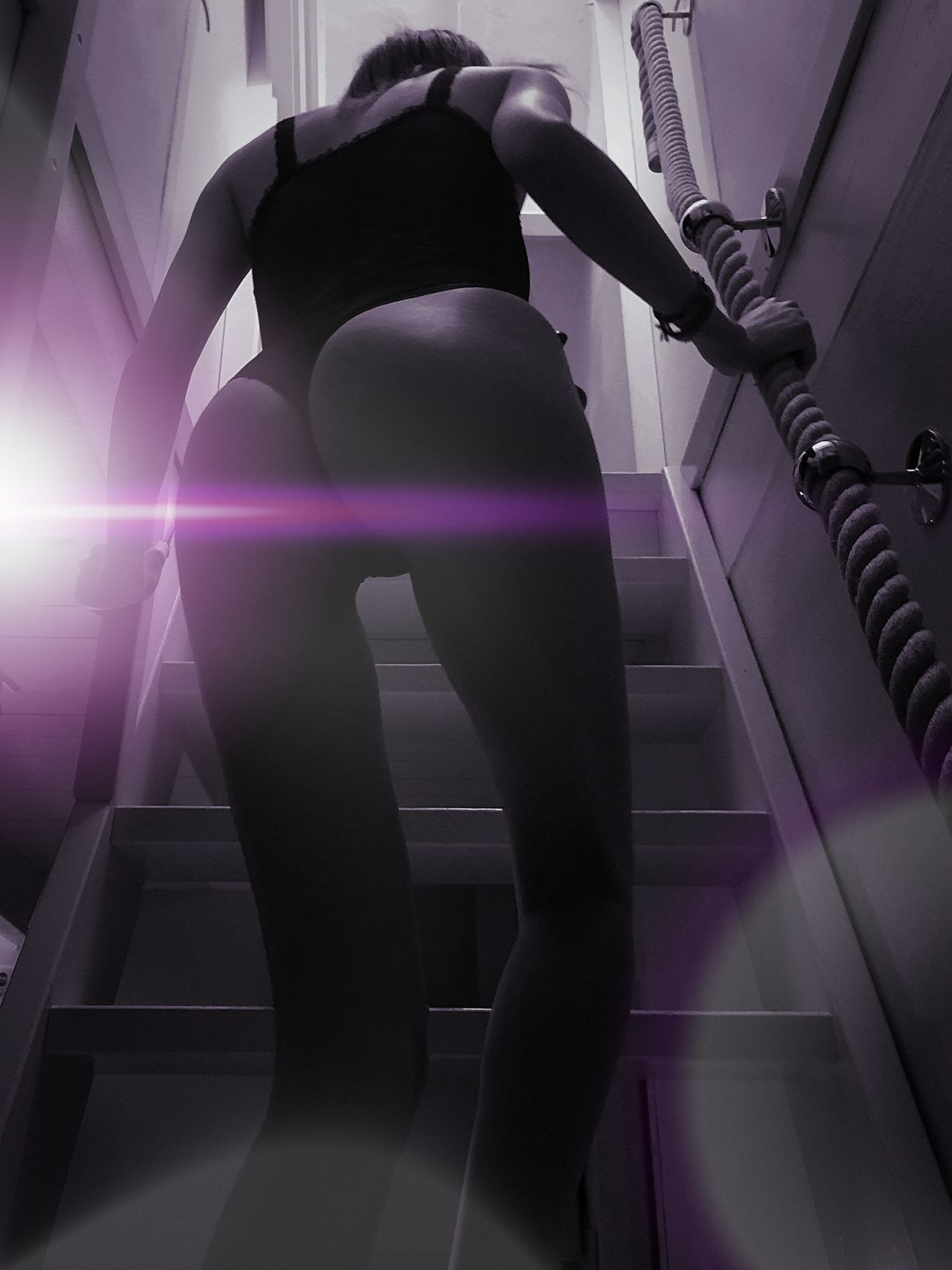 The Female Form Stairs Perfection Lina Modeling Seduction