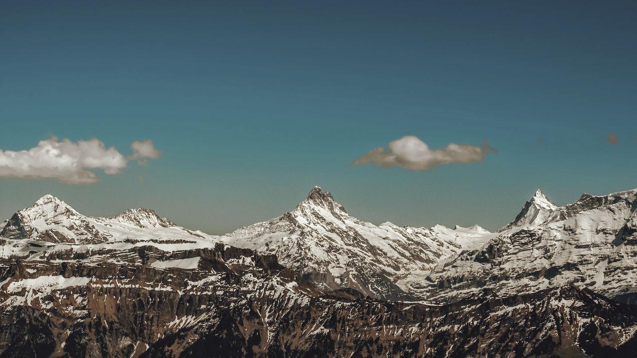 Beauty In Nature Landscape Mountain Mountain Peak Mountain Range Outdoors Scenics Snow Snowcapped Mountain Swiss Alps Switzerland