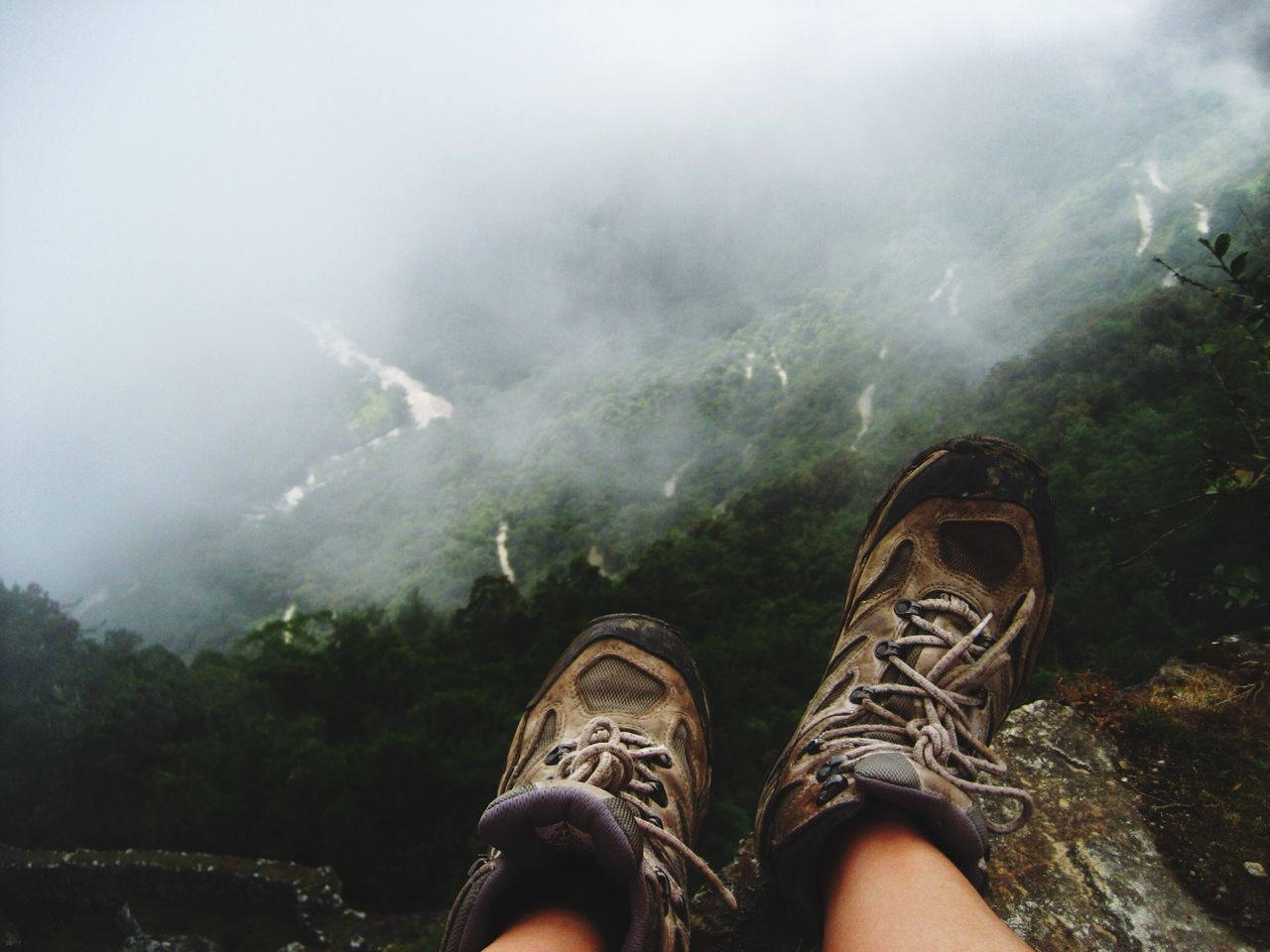 Beautiful stock photos of outdoors, Day, Fog, Forest, High Angle View