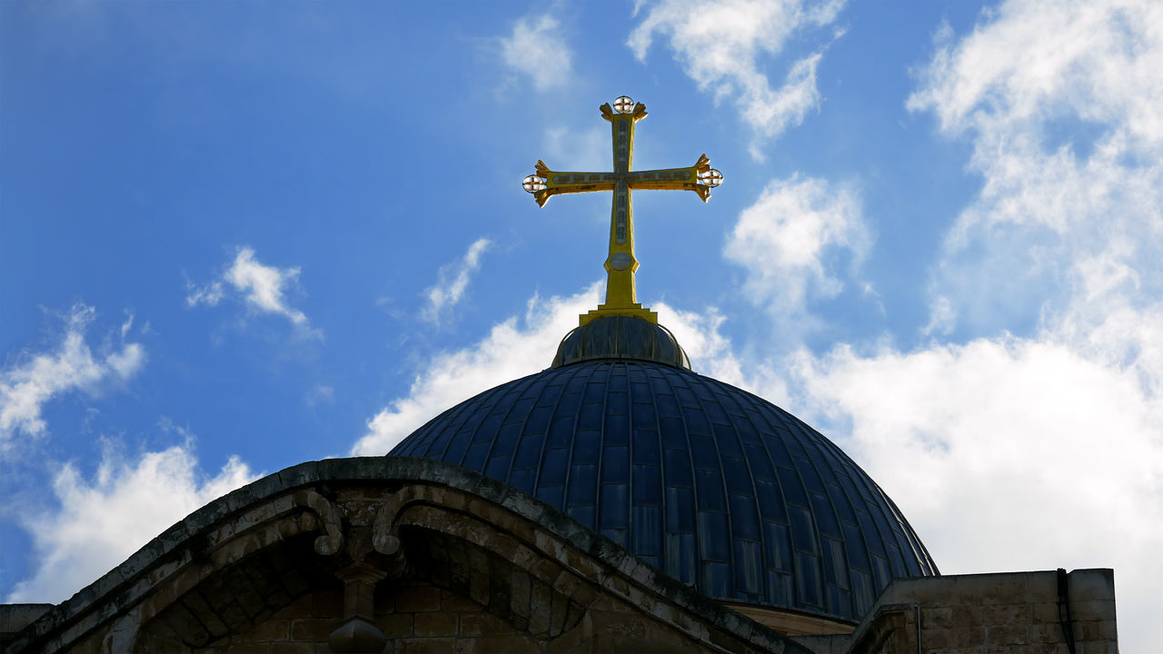 Architecture Building Exterior Built Structure City Cloud - Sky Day Dome Holy Land Holy Sephulchre Holy Sepulchre Jerusalem Jerusalem Israel Low Angle View No People Outdoors Religion Sepulcher Sepulchre Sky Spirituality Travel Destinations