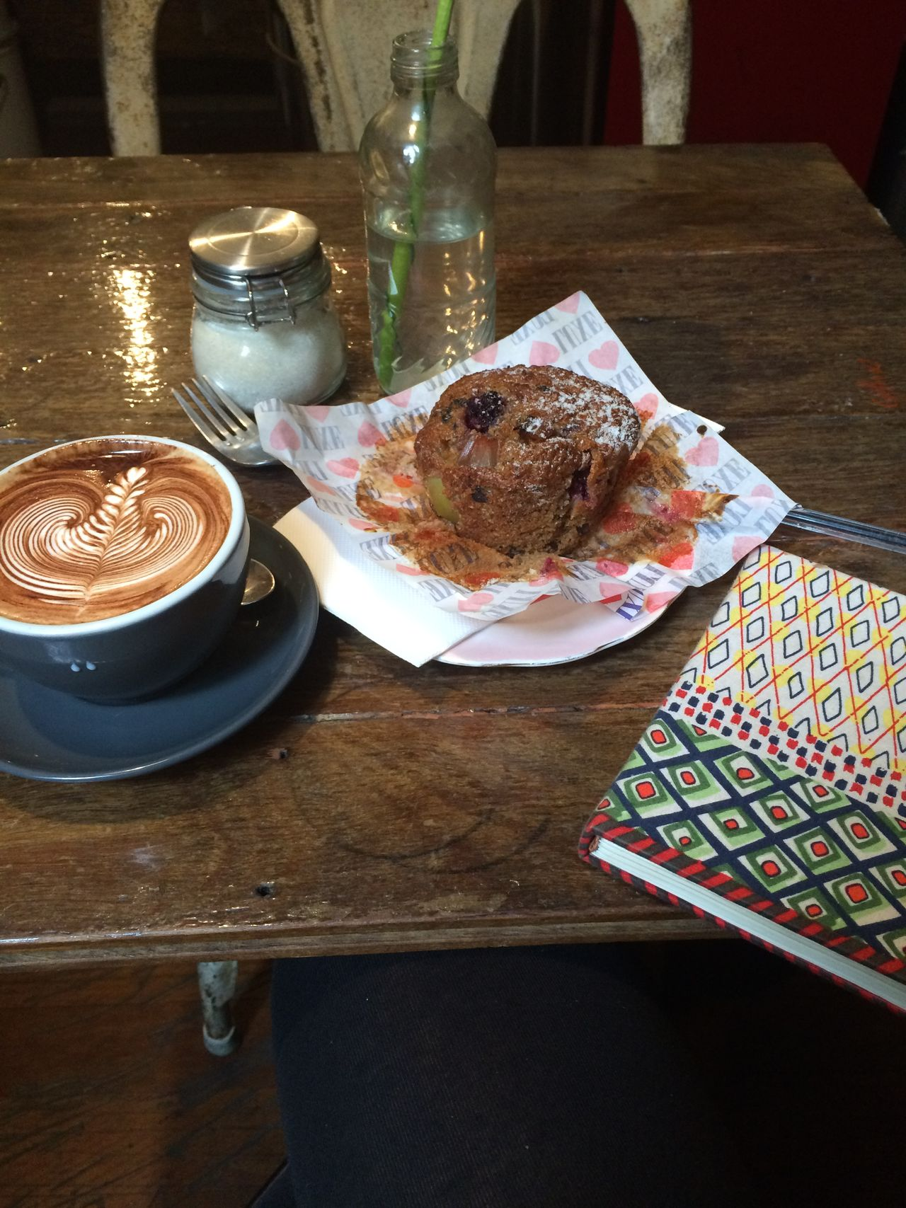 Break Cafe Coffee Diary Muffin No People Table Writing