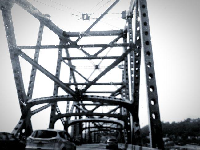 Ohio Road Trip Georgia Via Michigan Bridge Black And White