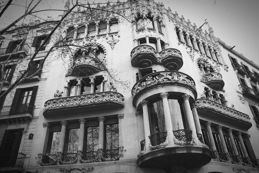 Ancient greatness. Ancient Building Barcelona Black And White