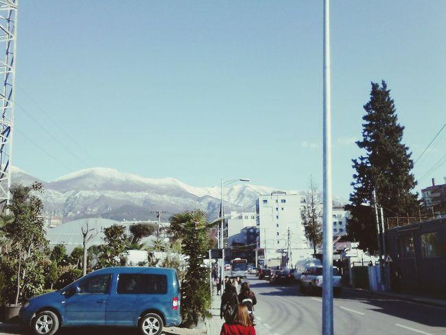 Hello World! Wintertime Albania Snowmountain Dajti Mountain Albania Eyem Albania PhonePhotography Street Dajti Telepheric First Eyeem Photo
