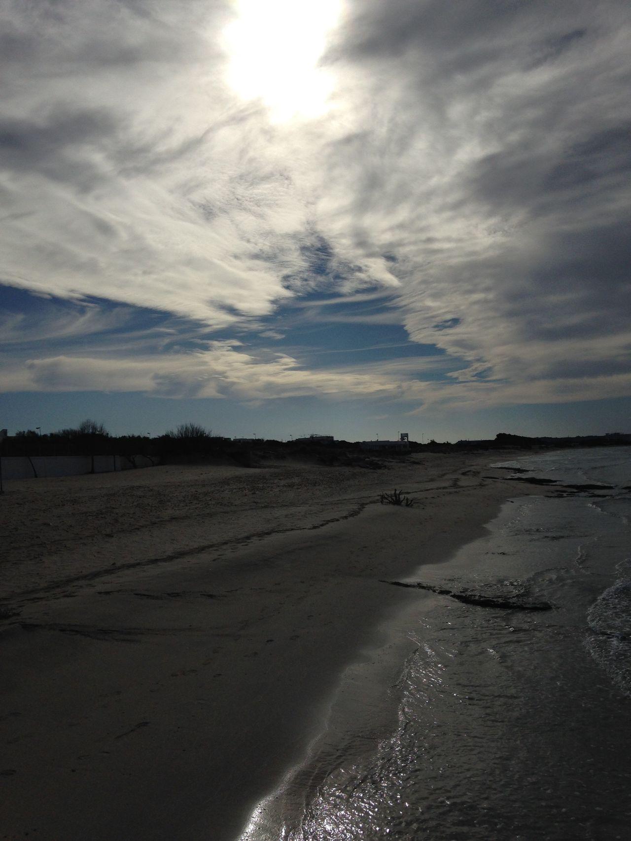 Luigi Amendola Litorale Mare Spiaggia Tempo Inverno Solitudine Sabbia Nuvole Sea Sea And Sky Sand Cloud - Sky Clouds Nature Tranquility Beach Beauty In Nature Landscape Day Winter Seascape Sand and nature
