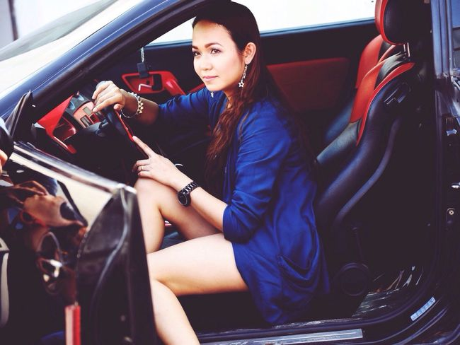 The Journey Is The Destination On The Way Lady Driver