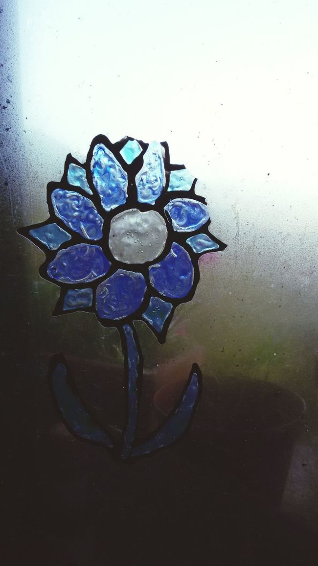 Painted Window Flower