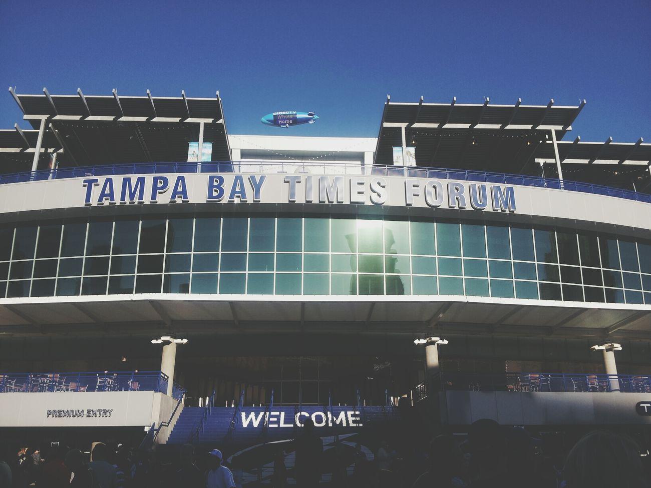 Tampa Bay Tampa Lightning Blimp Hockey Game