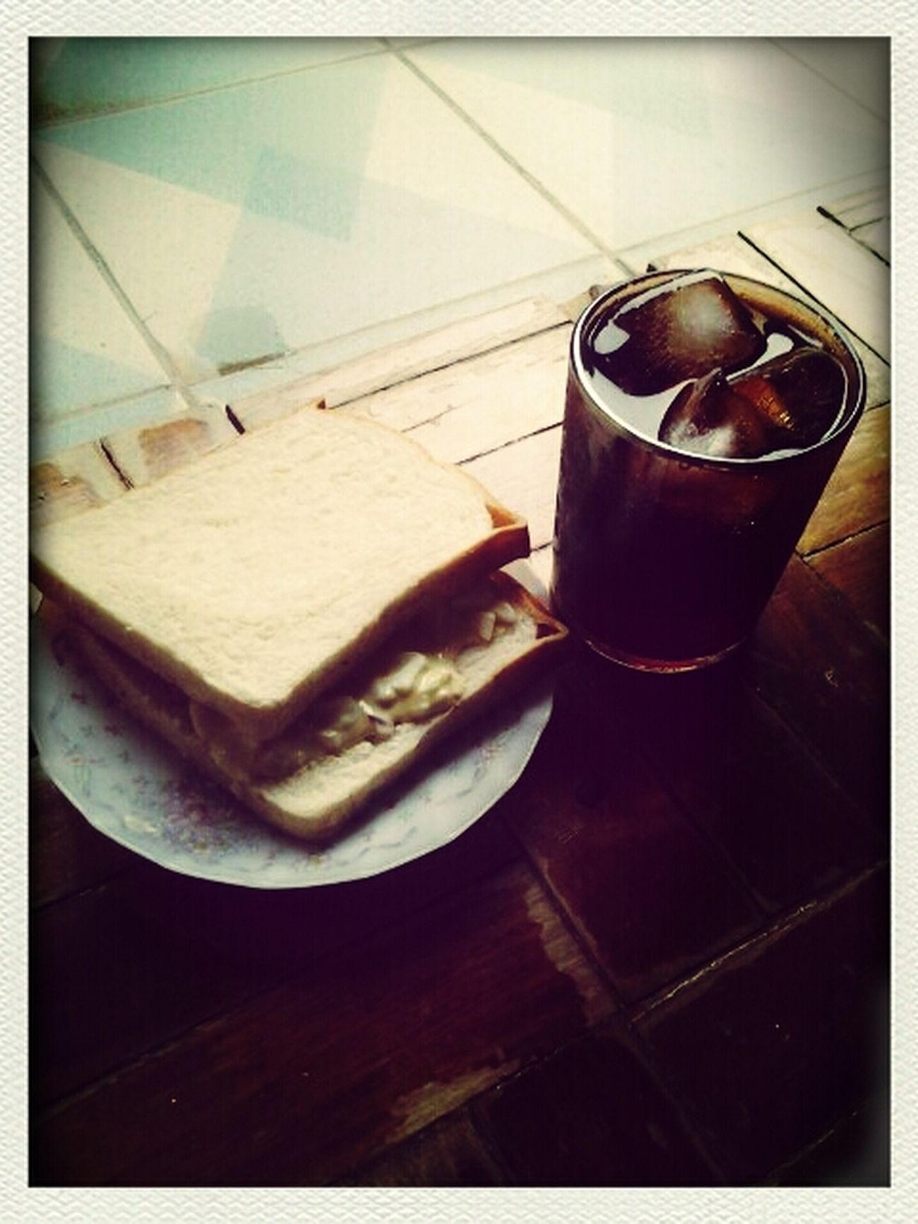 Egg Sandwich and Cokeee! Eyeem Philippines EyeEmBestPics